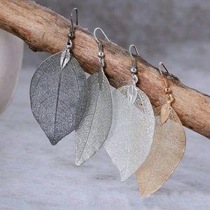 Dangling Leaves Earrings (Choice of Color)